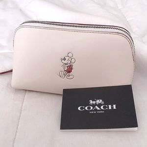COACH x Disney Mickey Mouse Collab Pouch